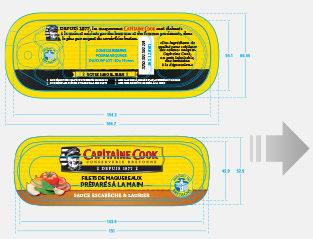 modélisation - filaire twings - 3D - TWINGS - image - virtuelle - packshot - prise de vue - produit - infographie - Grande distribution - itm - Intermarché - MDD - Capitaine Cook - Conserve - maquereaux en couleurs 3D - brief - artworks