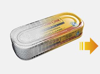 modélisation - filaire twings - 3D - TWINGS - image - virtuelle - packshot - prise de vue - produit - infographie - Grande distribution - itm - Intermarché - MDD - Capitaine Cook - Conserve - maquereaux en couleurs 3D